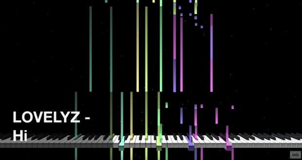 【미디 MIDI】 러블리즈 Lovelyz - Hi~ | MIDI makernect