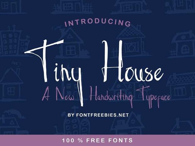 Free Font Tiny House Typeface