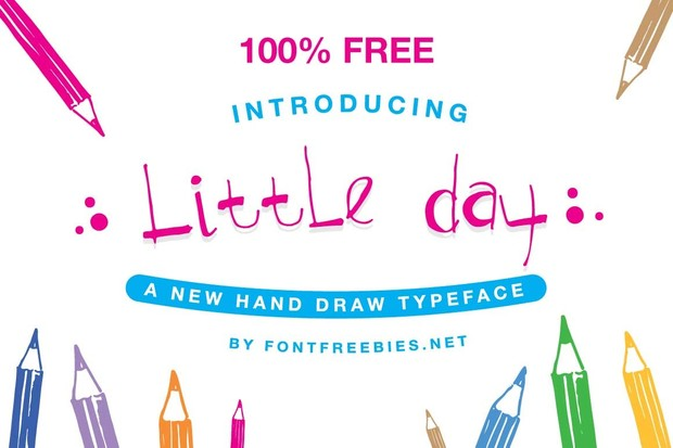 Free Font Little Day Typeface
