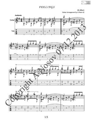 Feelings (M.Albert) Sheet music for guitar