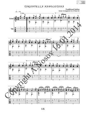 Tarantella Napoletana (Traditional Italian) Sheet music for guitar