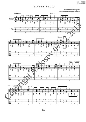 Jingle Bells (J.Pierpont) Sheet music for guitar