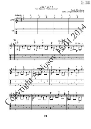 Chi Mai (E.Morricone) Sheet music for guitar