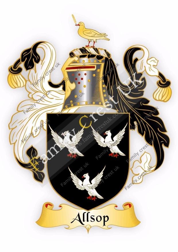 Allsop Family Crest