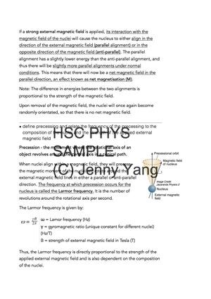 HSC 99.90 ATAR Physics (96) Band 6 Medical Physics Option Syllabus Notes