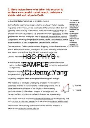 HSC 99.90 ATAR Physics (96) Band 6 Space Syllabus Notes