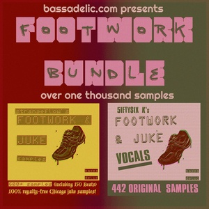 Footwork Bundle (1000+ Footwork Drum and Vocal Samples)