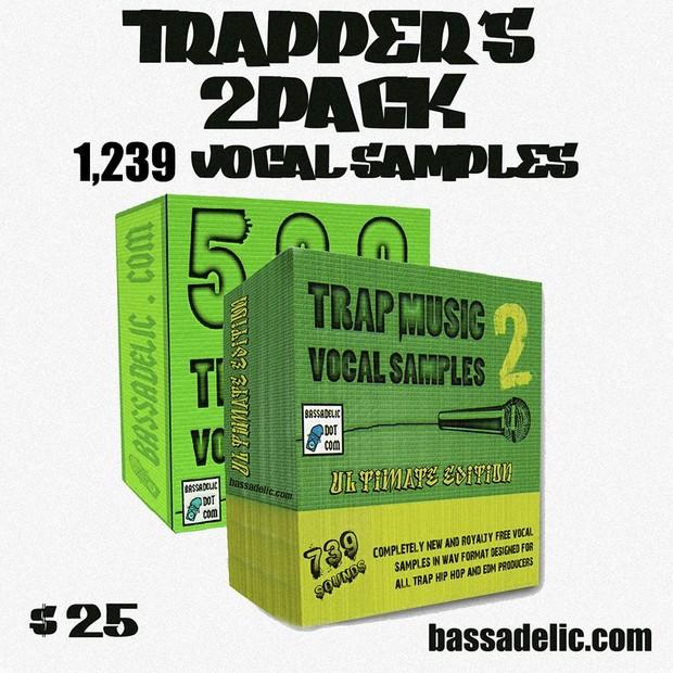 Trapper's 2PACK (1239 Vocal Samples)