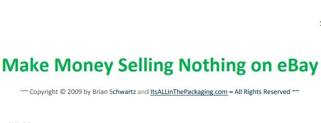 Make Money Selling Nothing The Book Nook Ebooks