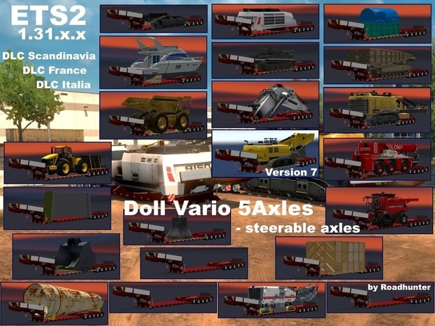 DOLL VARIO 5Axles Pack with 21 Cargos Version 7