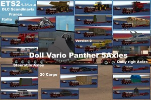Doll Vario 5 Axle + Dolly Pack _V2.0 /ready for ETS2 1.31.x.x
