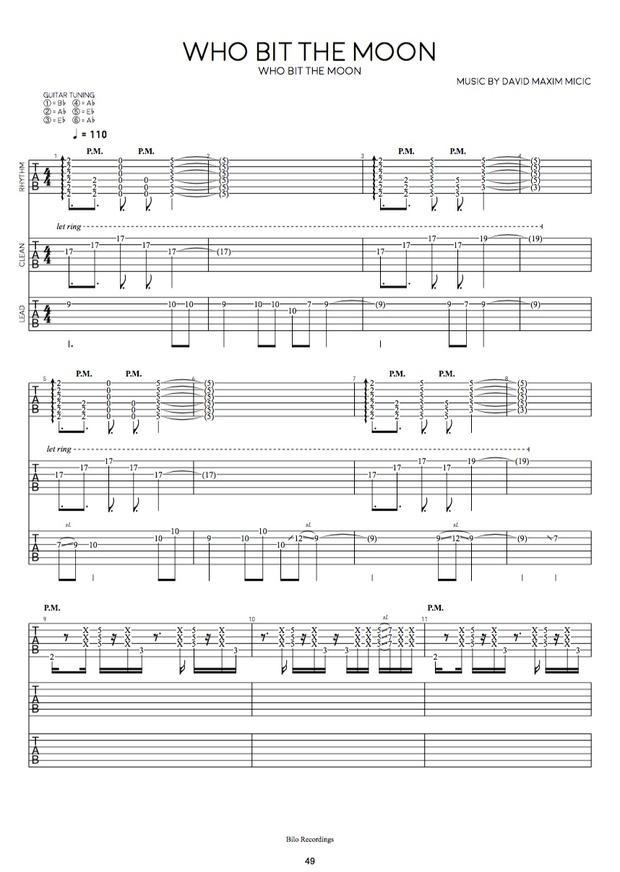 Who Bit The Moon - Digital Tab-Book (Guitar)