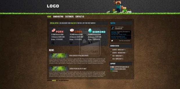 Minecraft Hosting HTML CSS Template V1