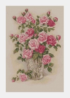Cross Stitch PDF Flower
