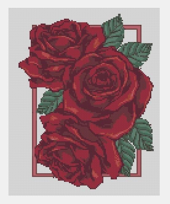 Cross Stitch PDF Roses