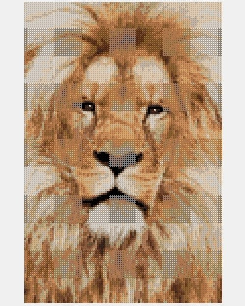 Cross Stitch PDF Lion