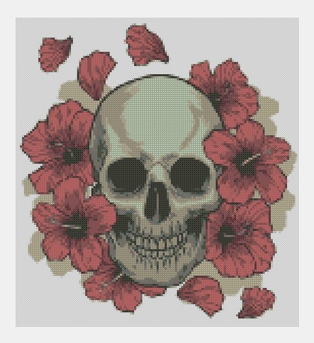 Cross Stitch PDF Skull