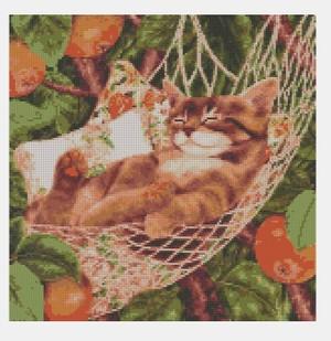 Cross Stitch PDF Cat FREE