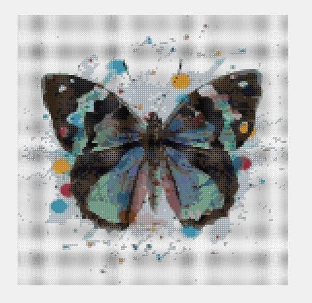 Cross Stitch PDF Butterfly