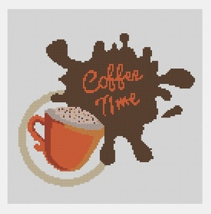 Cross Stitch PDF Coffee