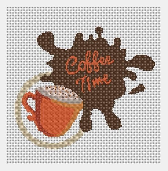 Cross Stitch PDF Coffee