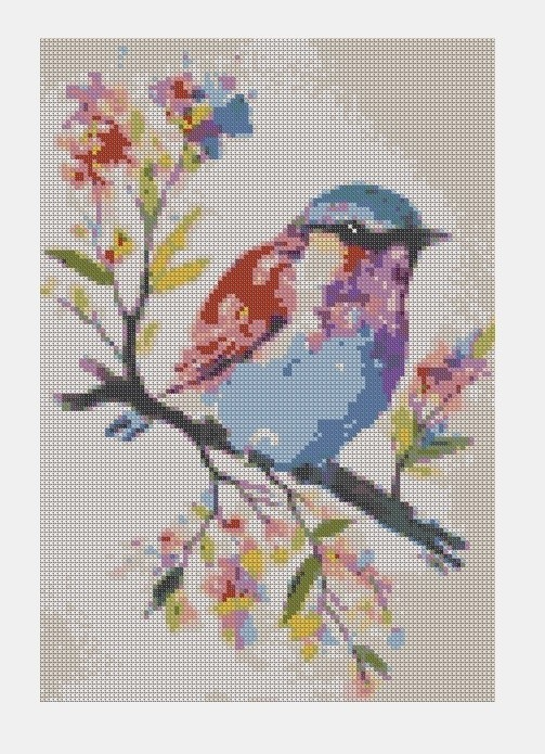 Cross Stitch PDF Bird