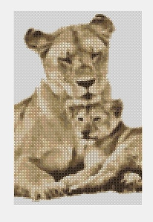 Cross Stitch PDF Lioness
