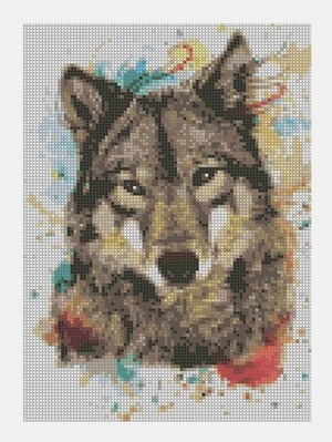 Cross Stitch PDF Wolf