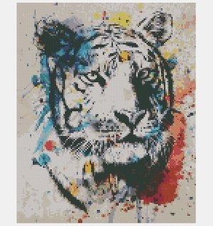 Cross Stitch PDF Tiger