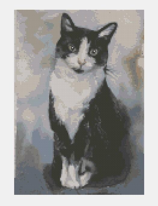 Cross Stitch PDF Cat