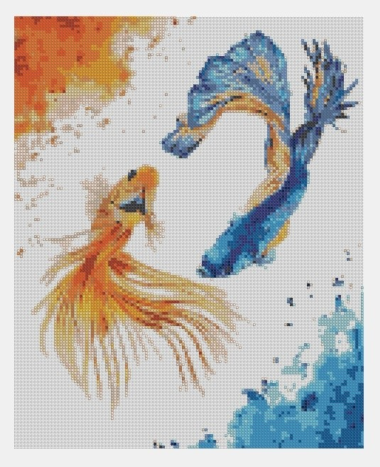 Cross Stitch PDF Fishes