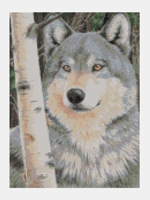 Cross Stitch PDF Wolf