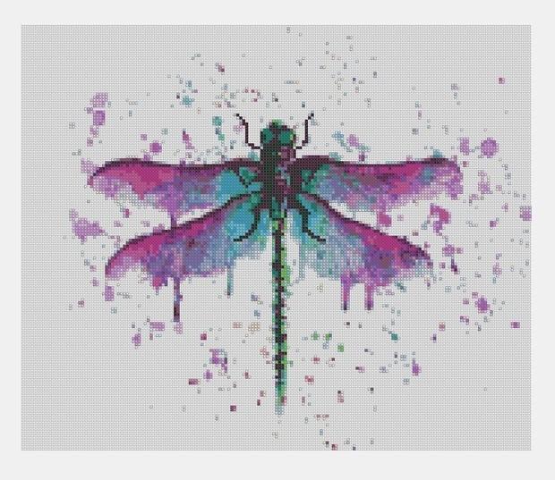 Cross Stitch PDF Dragonfly