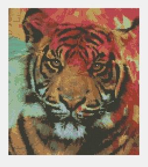 Cross Stitch PDF Tiger