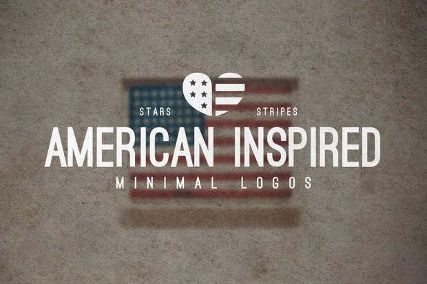 25 american minimal vintage logo templates for illustr