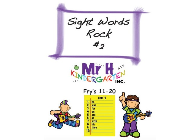 Sight Words Rock 2 (Parents Edition) Fry's Sight Words 11-20