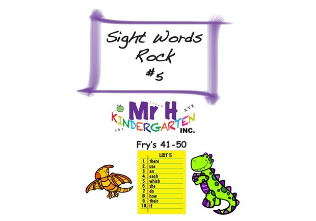 Sight Words Rock 5 (Parents Edition) Fry's Sight Words 41-50