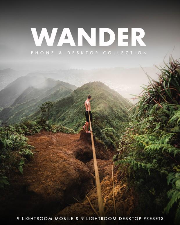 Wander Collection   Mobile & Desktop Lightroom Presets