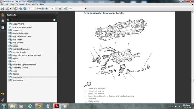 Holden VE Ute Omega/SS/SSV Workshop Manual
