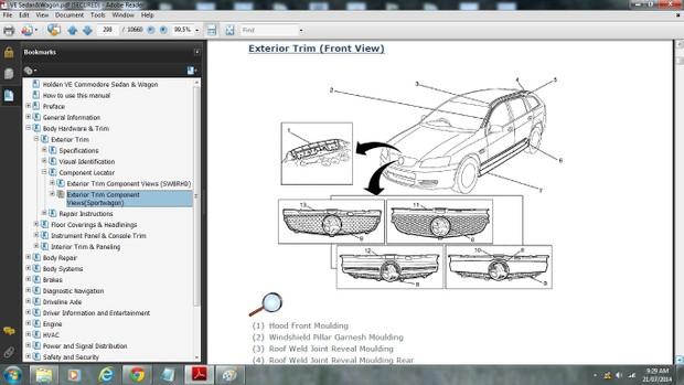 Holden VE Commodore Sedan/Sportwagon Workshop Manual