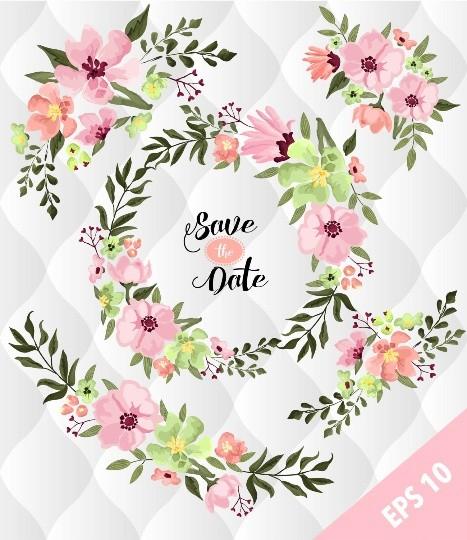 Spring Floral floral elements, Watercolor flower designs, Spring flowers Clip art