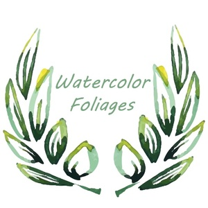 18 watercolor foliage, Watercolor leaves, leaves design elements, Watercolor elements
