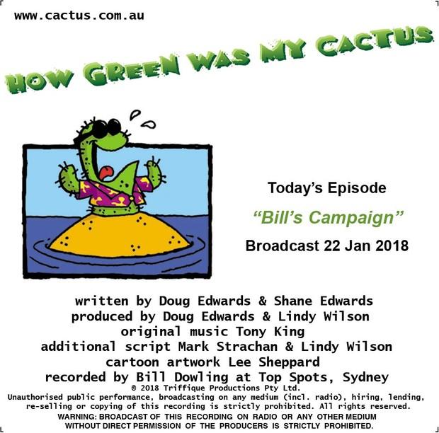 BILL'S CAMPAIGN (22.1.18)