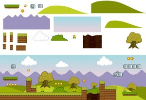gameslad game salad PLATFORMER BACKGROUND ART