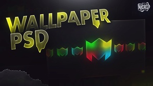 FREE WALLPAPER PSD (AlexxDesigns LOGO) (Project File)
