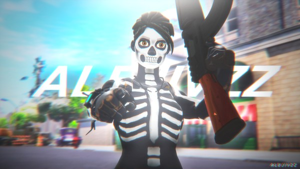 Fortnite Thumbnail Skull Ranger (PSD File) - Alejivzz.