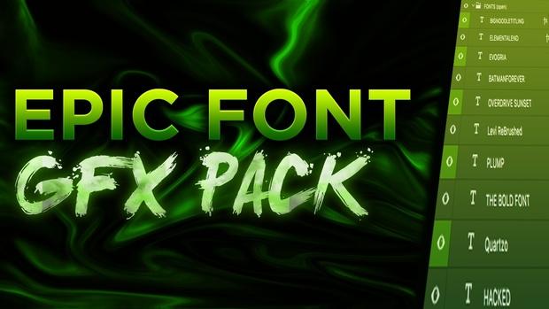 EPIC PHOTOSHOP FONT GFX PACK! (FREE!) - Zouty