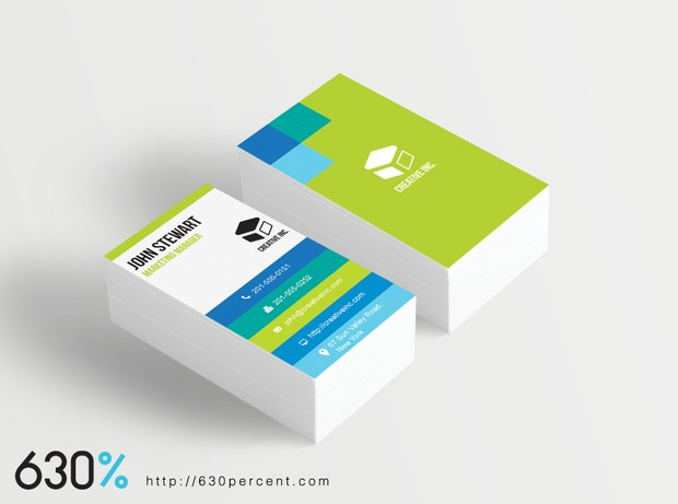 Grid Business Card Templateaiadobe Illustrator Inst