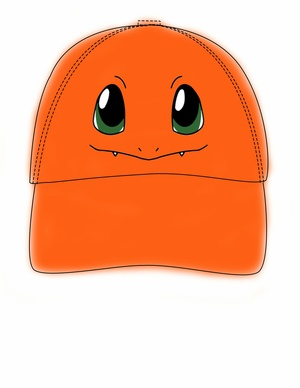 charmander hat template