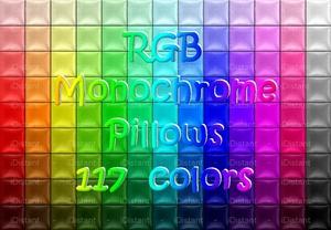 RGB Monochrome Pillows
